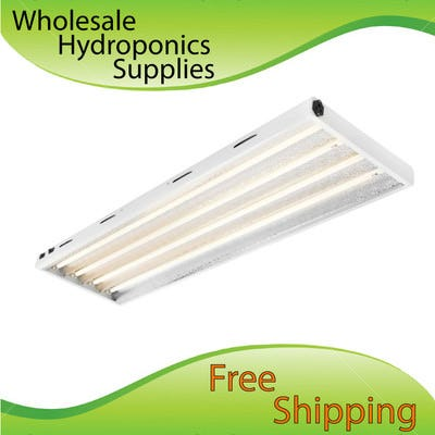 Maxlume T5 High Output (HO) 4ft 4-Bulb Fluorescent Grow Light--Choose Your Bulbs[1:3 Red/Blue]